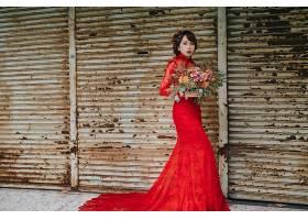 女人,亚洲的,妇女,模特女孩,红色,穿衣,黑发女人,口红,酒香,壁纸,