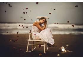 女人,情绪,妇女,模特女孩,白色,穿衣,深度,关于,领域,壁纸,
