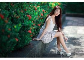 女人,亚洲的,妇女,模特女孩,微笑,长的,头发,高的,高跟鞋,壁纸,