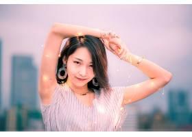 女人,亚洲的,女孩,模特妇女,黑色,头发,壁纸,(22)
