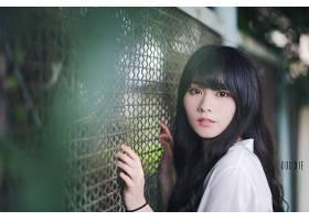 女人,亚洲的,女孩,模特妇女,黑色,头发,壁纸,(7)