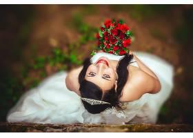 女人,新娘,女孩,妇女,模特微笑,黑发女人,口红,酒香,婚礼,穿衣,壁