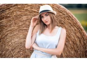 女人,模特,妇女,女孩,帽子,黑发女人,干草堆,穿衣,棕色,眼睛,壁纸