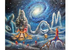 艺术的,绘画,星系,空间,壁纸,