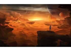 沙丘,沙漠,风景,壁纸,