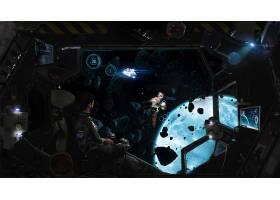 宇航员,空间,航天飞机,行星,小行星,壁纸,