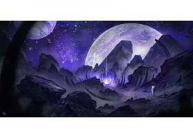 宇航员,行星,光线,壁纸,
