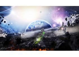 宇航员,行星,航天飞机,壁纸,