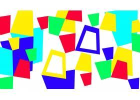 抽象,几何学,富有色彩的,数字的,艺术,形状,黄色,蓝色,绿色的,壁
