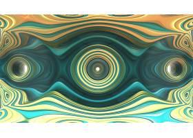 抽象,不规则碎片形,3D,艺术的,数字的,艺术,Mandelbulb,3D,黄色,