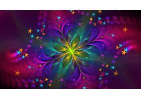 抽象,彩色,富有色彩的,数字的,艺术,艺术的,星星,壁纸,