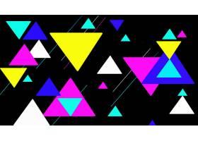 抽象,三角,几何学,数字的,艺术,富有色彩的,形状,壁纸,