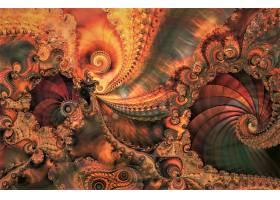 抽象,漩涡,艺术的,彩色,富有色彩的,不规则碎片形,壁纸,