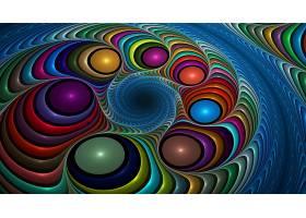 抽象,彩色,漩涡,艺术的,数字的,艺术,壁纸,