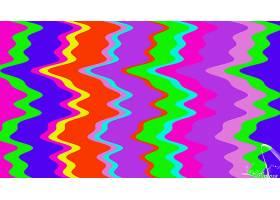 抽象,波浪,艺术的,数字的,艺术,彩色,绿色的,橙色的,蓝色,富有色