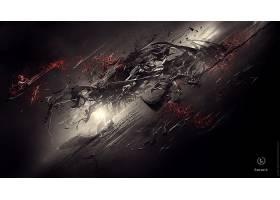 抽象,黑色,壁纸,(70)