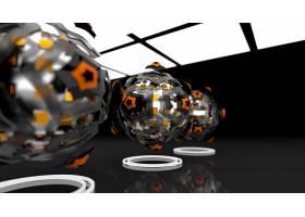抽象,球,3D,数字的,艺术,CGI,壁纸,(12)