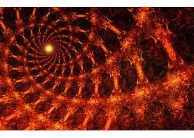 抽象,漩涡,艺术的,数字的,艺术,橙色的,壁纸,