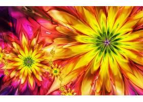 抽象,艺术的,绘画,彩色,富有色彩的,花,壁纸,