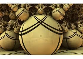 抽象,球,3D,数字的,艺术,CGI,不规则碎片形,棕色,壁纸,