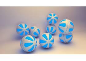 抽象,球,3D,数字的,艺术,CGI,壁纸,(10)