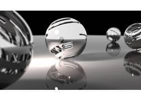 抽象,球,3D,数字的,艺术,CGI,壁纸,(11)
