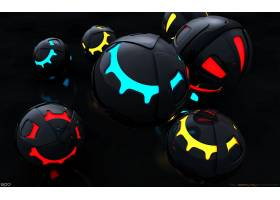 抽象,球,3D,数字的,艺术,CGI,壁纸,(13)