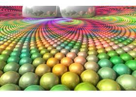 抽象,球,3D,数字的,艺术,CGI,壁纸,(14)