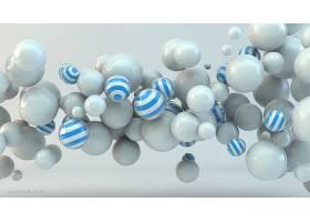 抽象,球,3D,数字的,艺术,CGI,壁纸,(7)