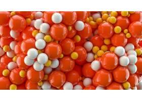 抽象,球,3D,数字的,艺术,CGI,橙色的,壁纸,