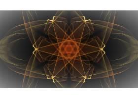 抽象,生殖的,艺术的,橙色的,黄色,模式,数字的,艺术,壁纸,