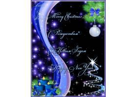 深色背景圣诞节新年海报背景