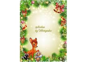 冬季圣诞节主题边框设计