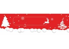 红色圣诞节喜庆背景