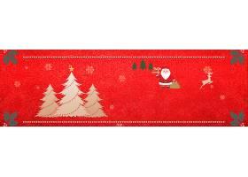 圣诞节红色横幅背景
