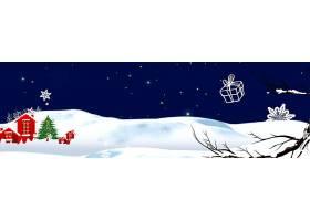 蓝色圣诞节横幅背景