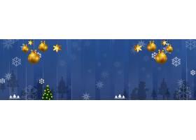 蓝色圣诞节背景
