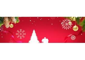 红色圣诞节横幅背景