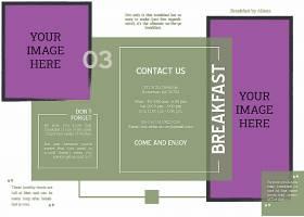 紫色价格牌折页模板