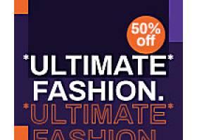 紫色原创时尚购物促销打折banner横幅背景