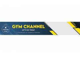 健身频道youtube横幅模板