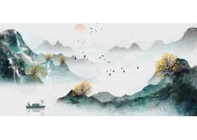 大气国画水墨山水装饰画