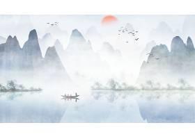 水墨画古风国画中国风山水背景