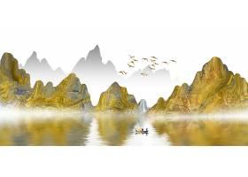 唯美山水意境水墨背景