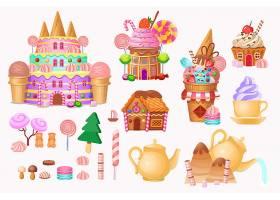 清新蛋糕甜品冰激凌王国插画设计