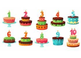 数字蛋糕生日蛋糕插画设计