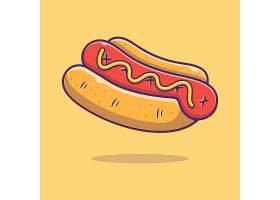 热狗主题矢量插画设计