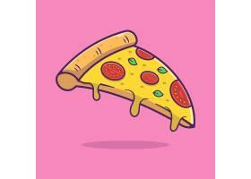 西红柿披萨主题矢量插画设计