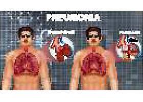 人体内脏肺部肝脏分析插画设计