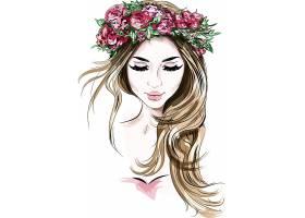 马克笔手绘时尚潮流女性人物头像插画设计